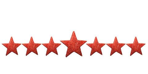 Stern - Sterne in rot - Freisteller