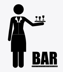 bar, design, vector illustration.