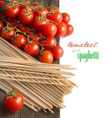 Spaghetti and tomatoes