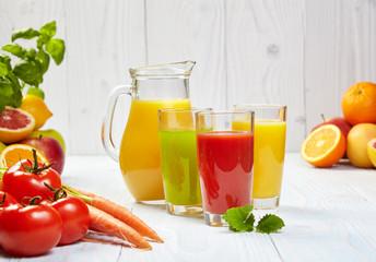 Healthy juices spring