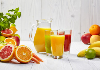Healthy juices spring