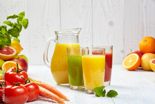 canvas print picture Healthy juices spring