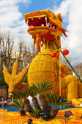 Papiers peints Carnaval Lemon Festival (Fete du Citron) in Menton, France - Feb 20, 2015