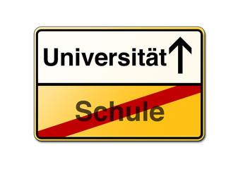 Universität Schule Student Schild