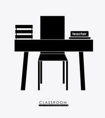 class room, design, vector illustration.
