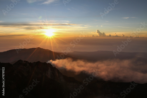 Papiers peints Morning Glory Sunset View From Mt.Rinjani-Lombok,Indonesia,Asia