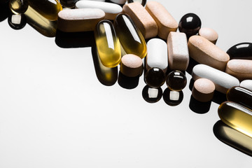 background made of colorful pills