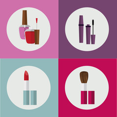 make up desing, vector illustration