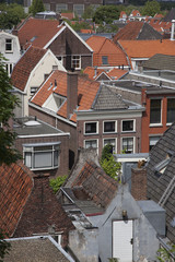 old dutch houses in the city of Leiden