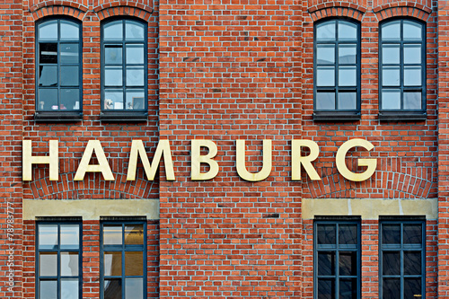 Foto op Aluminium Oude gebouw hamburg