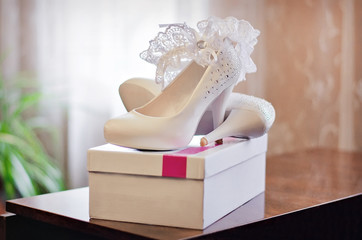 white shoes of fiancee