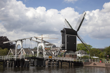 windmill in the city of Leiden