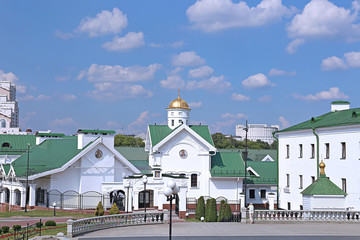 Buildings belonging to the Orthodox Holy Spirit Cathedral in Min