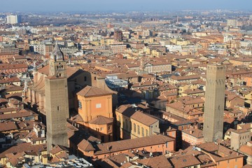 Bologna, view of the center