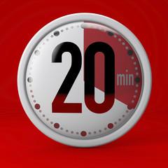 Tempo, orologio, timer, cronometro, 20 minuti