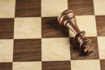 Chess pieces and game board background