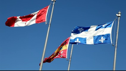 Flags of Canada, Quebec and University Laval