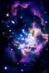 Stellar nurseries - molecular cloud in which the process of star