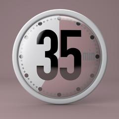 Tempo, orologio, timer, cronometro, 35 minuti