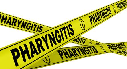 Фарингит (pharyngitis). Желтая оградительная лента