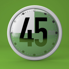 Tempo, orologio, timer, cronometro, 45 minuti