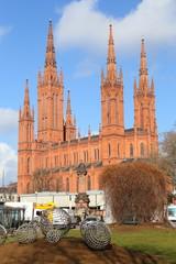 Wiesbaden, die Marktkirche (Februar 2015)