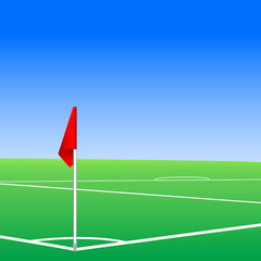Illustration of  a football pitch corner flag