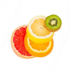 falling fruit, balance, grapefruit, kiwi, lemon