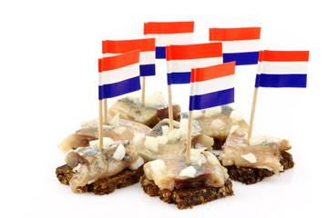 "Fresh herring (Dutch ""Hollandse Nieuwe"") with chopped onions"