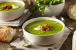 Homemade Green Spring Pea Soup - 78787195