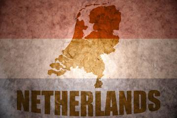 vintage netherlands map