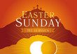 Easter sunday holy week sunrise card - 78787528