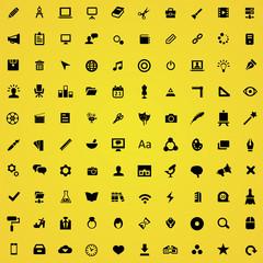 100 art, design icons