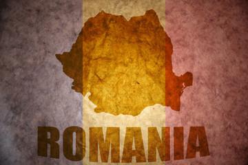 vintage romania map