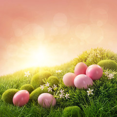 Pink easter eggs