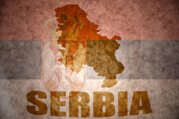 vintage serbia map