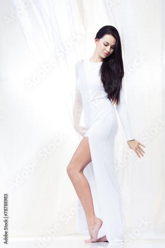 Leinwandbild Motiv White silk