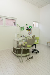 Modern Dentistry Office Interior With Chair And Tools