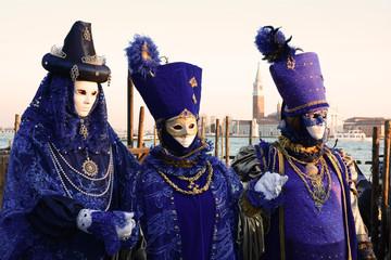 Trio di maschere veneziane