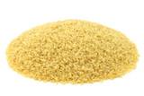bulgur (couscous) on a white background