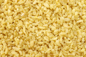 bulgur (couscous) on a white background