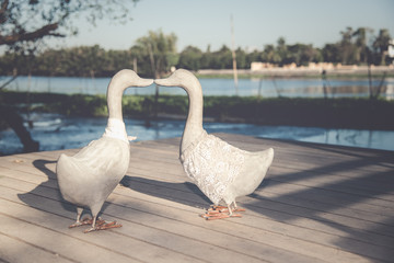 duck decoration sculpture