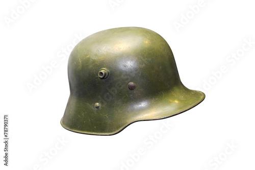 Poster German Army helmet World War II period