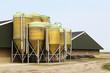 Leinwandbild Motiv farmhouse with silo's in holland
