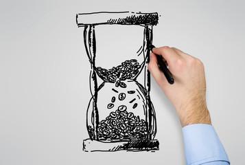 hand drawing hourglass