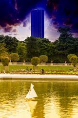 Montparnasse tower view from Luxemburg's gardens