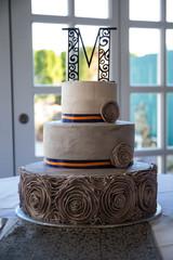 wedding cake topper dessert brown design