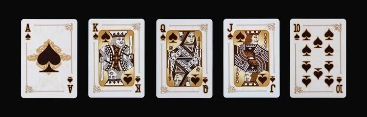 Spielkarten - Poker -PIK im Spiel