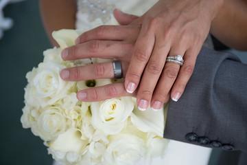 wedding ring hand white flower love