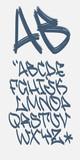 Fototapety Graffiti font - Marker - Vector alphabet